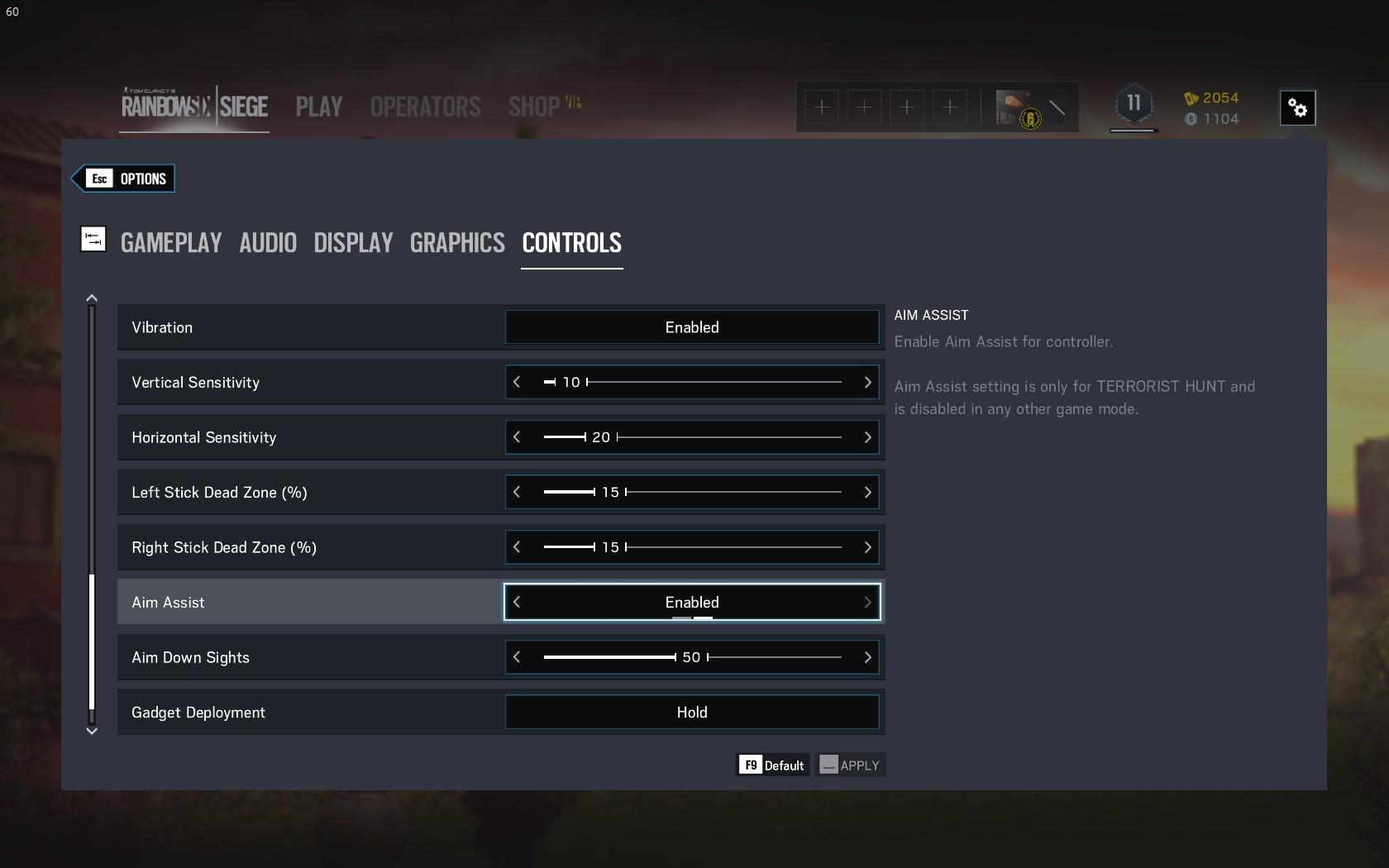 Enabling aim assist in Rainbow Six: Siege - Ubisoft Support