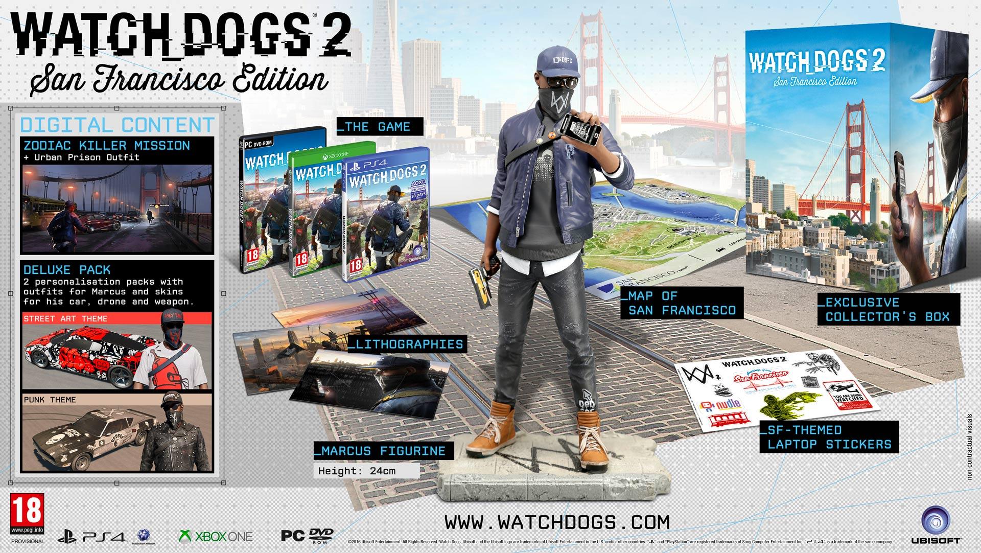 Inhalte Nach Editionen Von Watch Dogs 2 Ubisoft Kundenservice