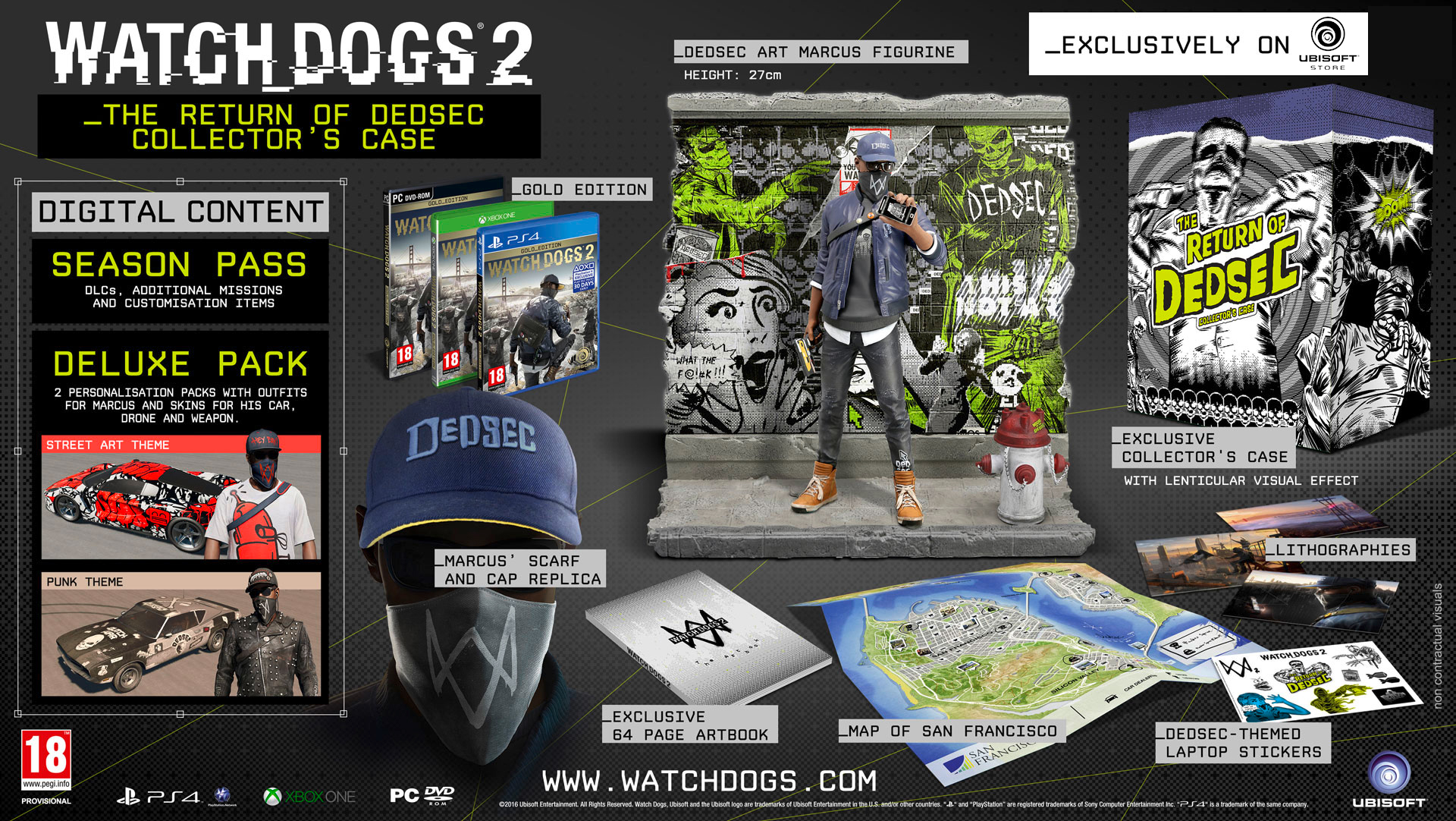 Content for each Edition of Watch Dogs 2 - Ubisoft Support