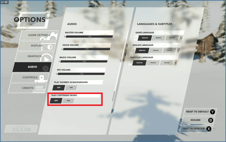 How do I turn off in-game music? - Ubisoft Support