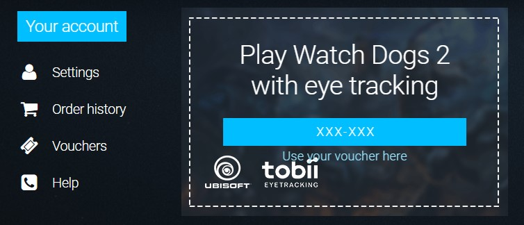 Redeeming your Tobii promotional code to get your free game