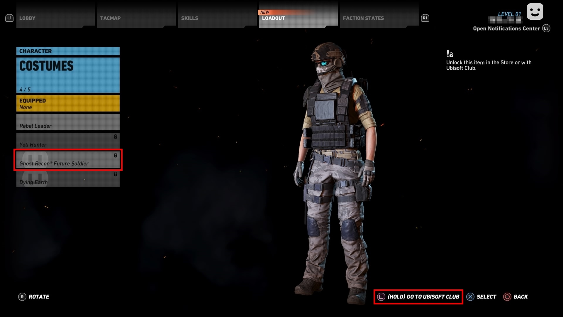 Accessing costumes from other Ubisoft games in Ghost Recon Wildlands