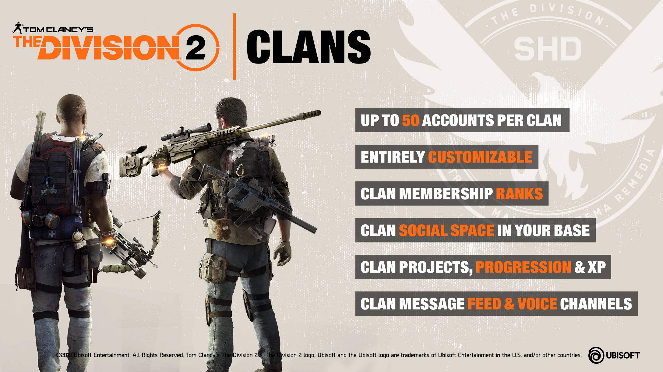 Information about the Clan feature in The Division 2