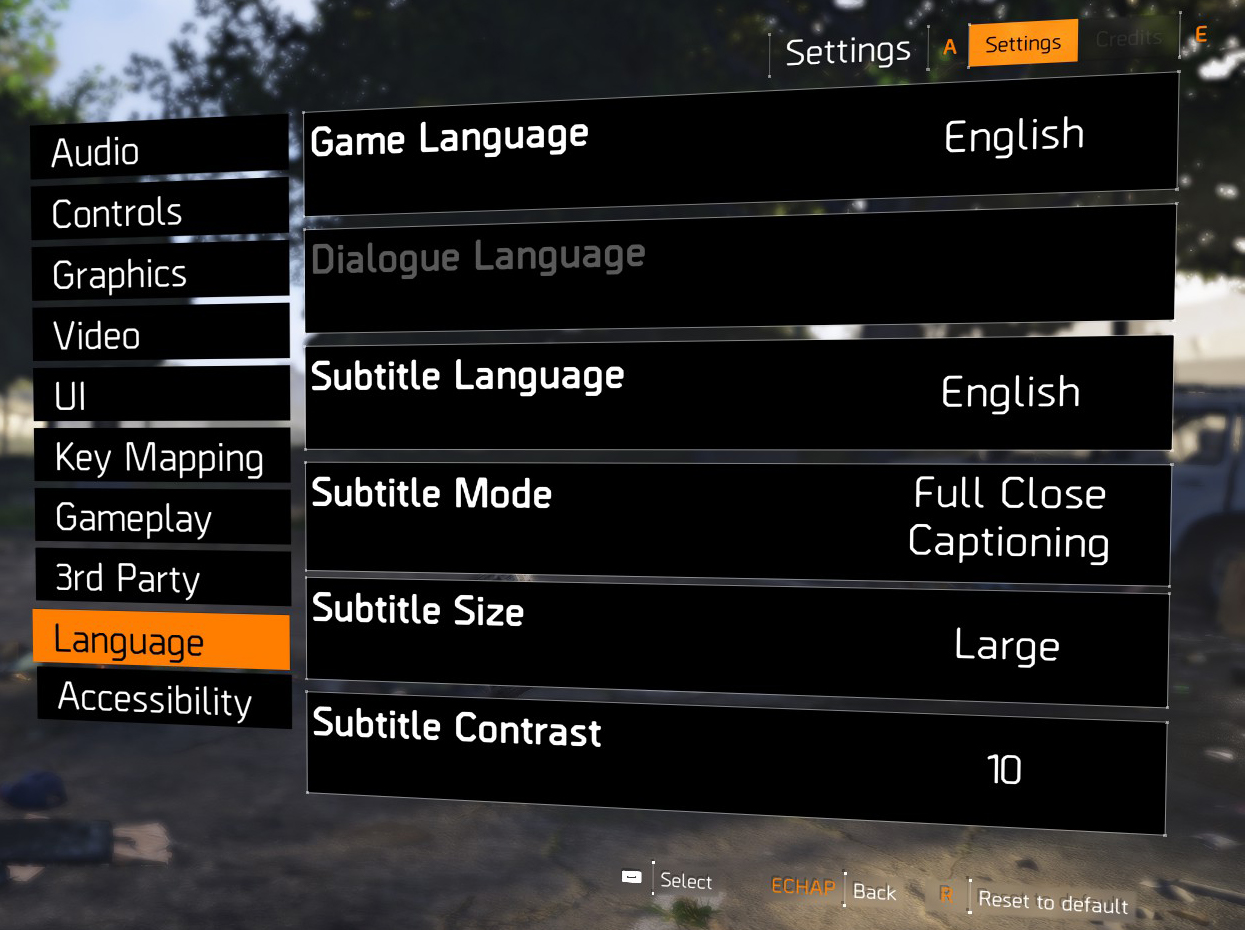 Subtitles management in The Division 2 - Ubisoft Support