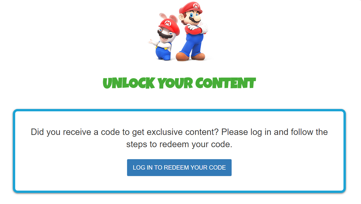Redeeming your pre-order code for Mario + Rabbids Kingdom Battle