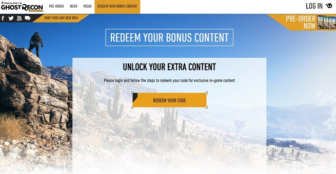 'Redeem your bonus content'