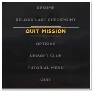 Quitting missions - Ubisoft Support