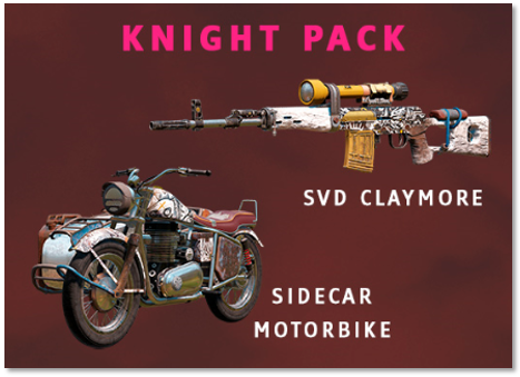Image of the contents of the Knight Pack