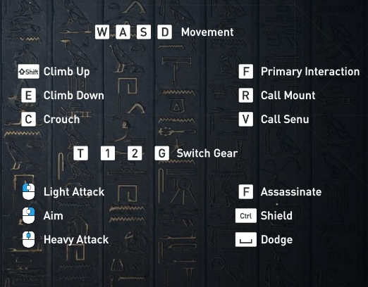 PC Controls for Assassin's Creed: Origins - Ubisoft Support