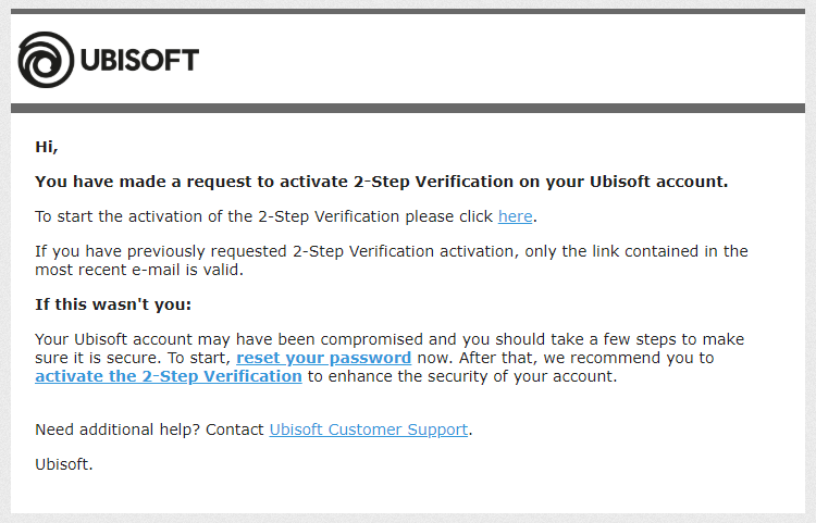 Secure your account with 2-Step Verification - Ubisoft Support