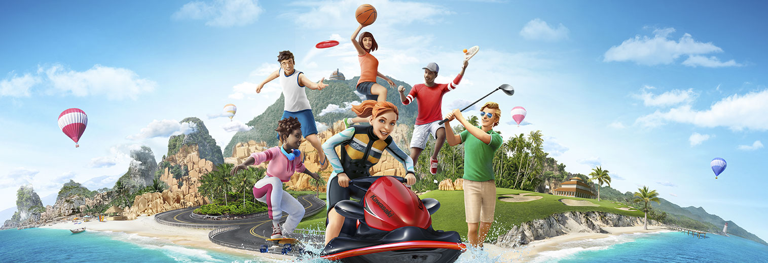 Sports Party logo showing various athletes