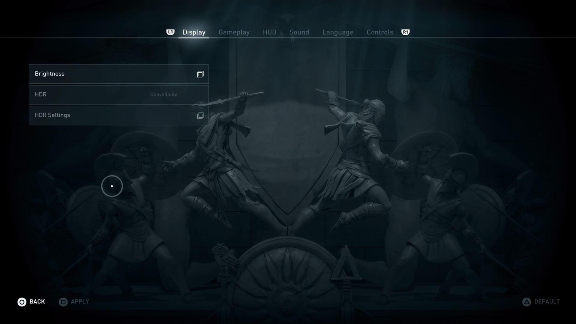 Setting screen's brightness in Assassin's Creed: Odyssey - Ubisoft