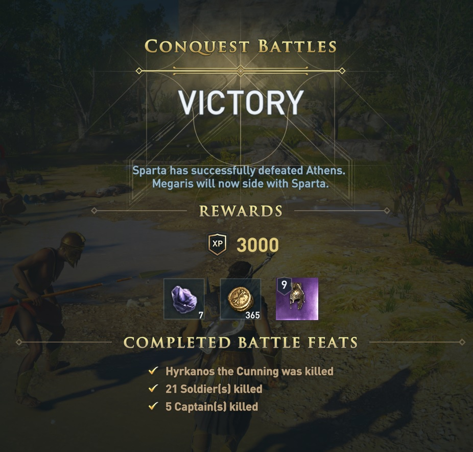 Conquest battle victory screen