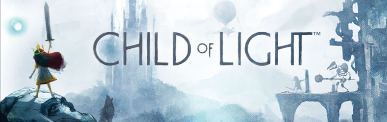 Baner karty powitalnej Child of Light