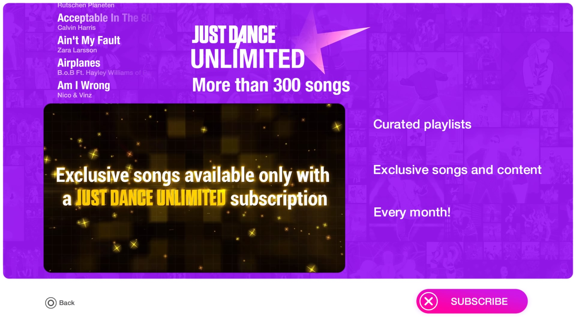 Unlocking all songs and features in Just Dance 2019