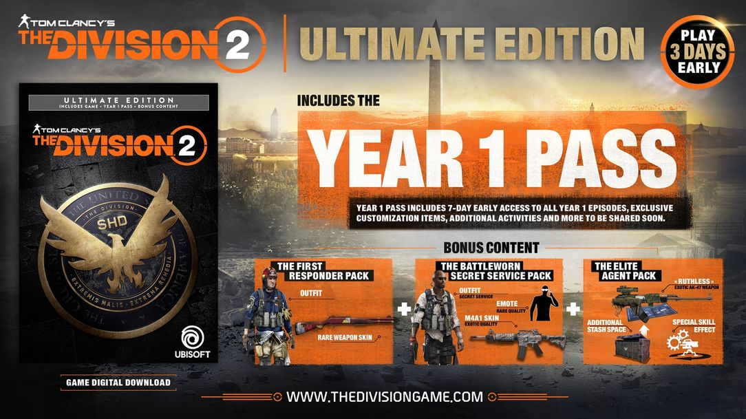 the division 2 gold edition bonuses